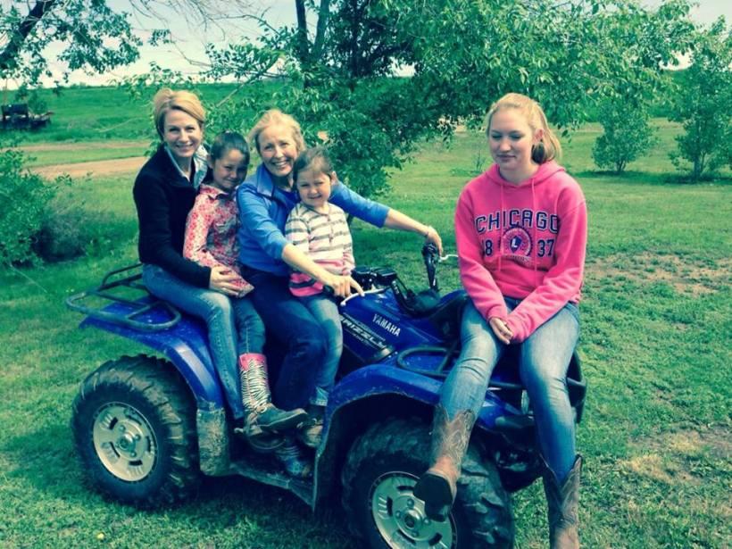 Four-wheeler with neighbor girls!
